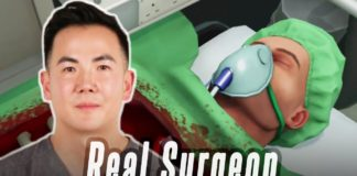 A Real Surgeon Performs Surgery in Surgeon Simulator