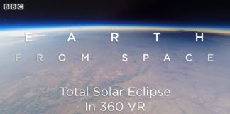 Total Solar Eclipse: 360 VR Video Seen From Space