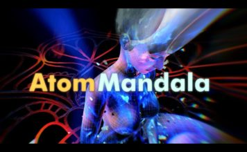 """Atom Mandala"" - an animated 360-degree music video by Ikarux."