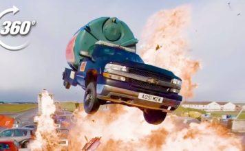 360 Degree Video Explosive Petrol Station Stunt