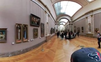 Louvre Museum - Denon Wing - 360 degree video - 360 degree video - Mona Lisa