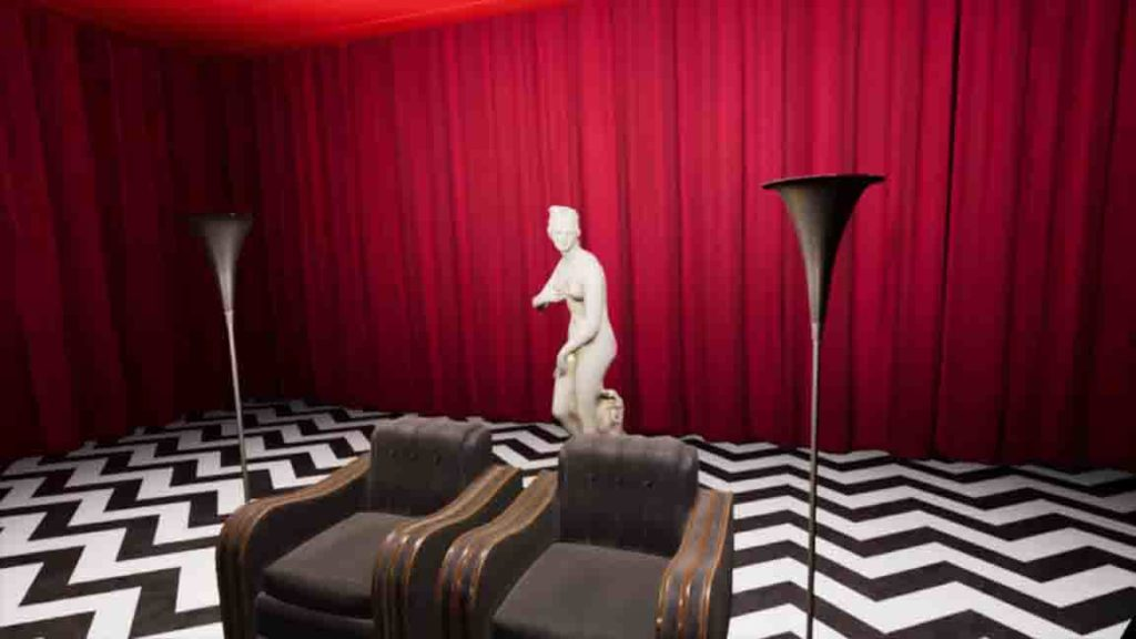 "Take a seat in the Red Room in ""Twin Peaks VR."""
